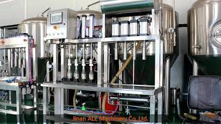 brewery bottling machine. filler and capper all in one