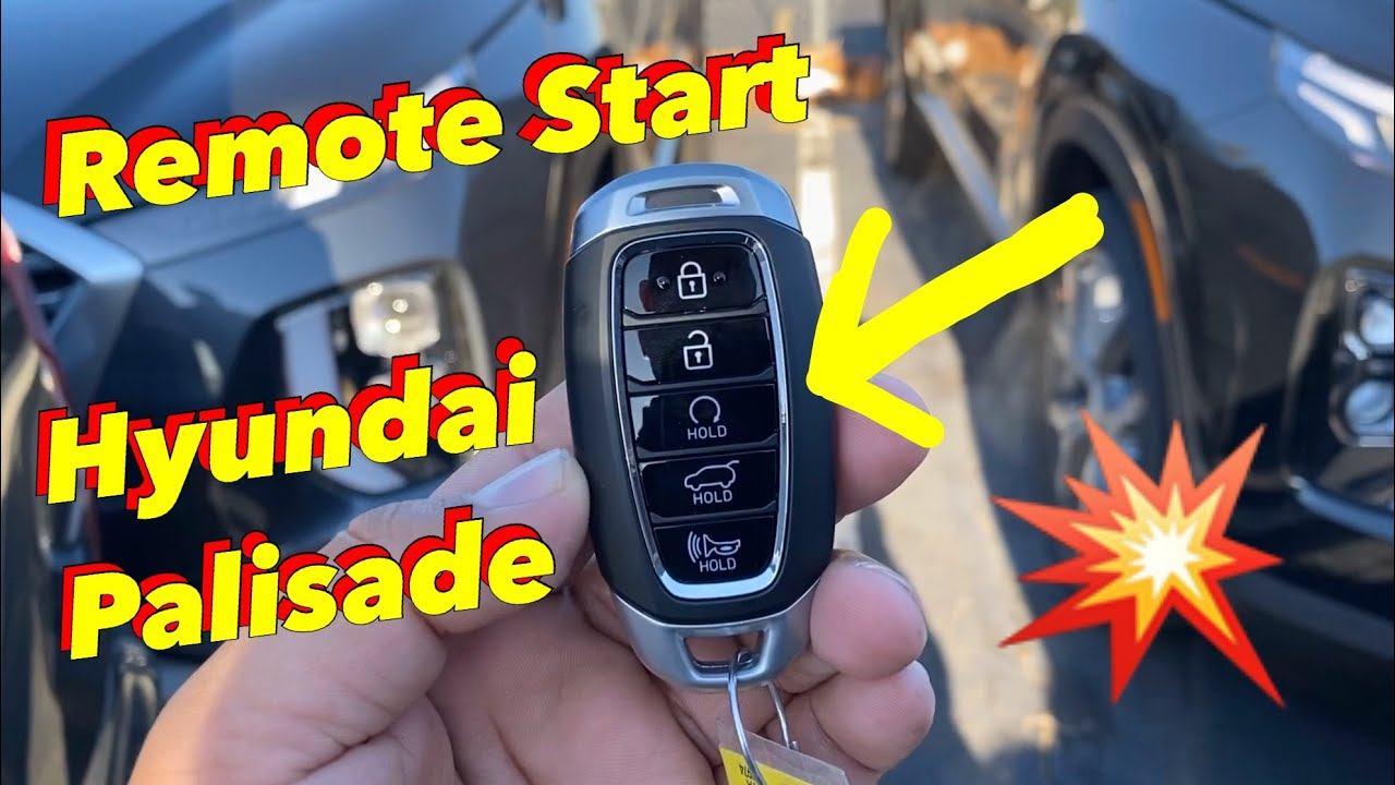 How To Use Factory Remote Start On Hyundai Palisade Youtube
