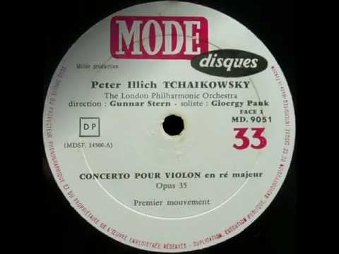 Tchaikovsky: Violin Concerto op. 35 (György Pauk, violin - 1962 monophonic LP)