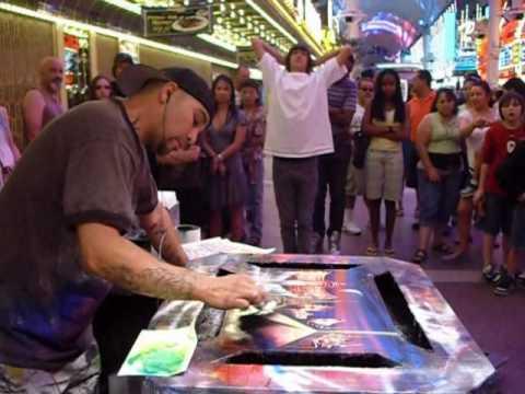 Jester Spray Painting The Las Vegas Strip