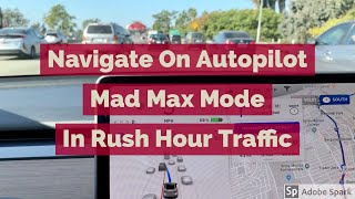 Tesla Navigate On Autopilot Mad Max Mode In LA Rush Hour Traffic