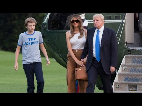 Barron Trump Carries Fidget Spinner as He Finally Moves Into The White House