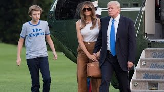 Barron Trump Carries Fidget Spinner as He Finally Moves Into The White House thumbnail