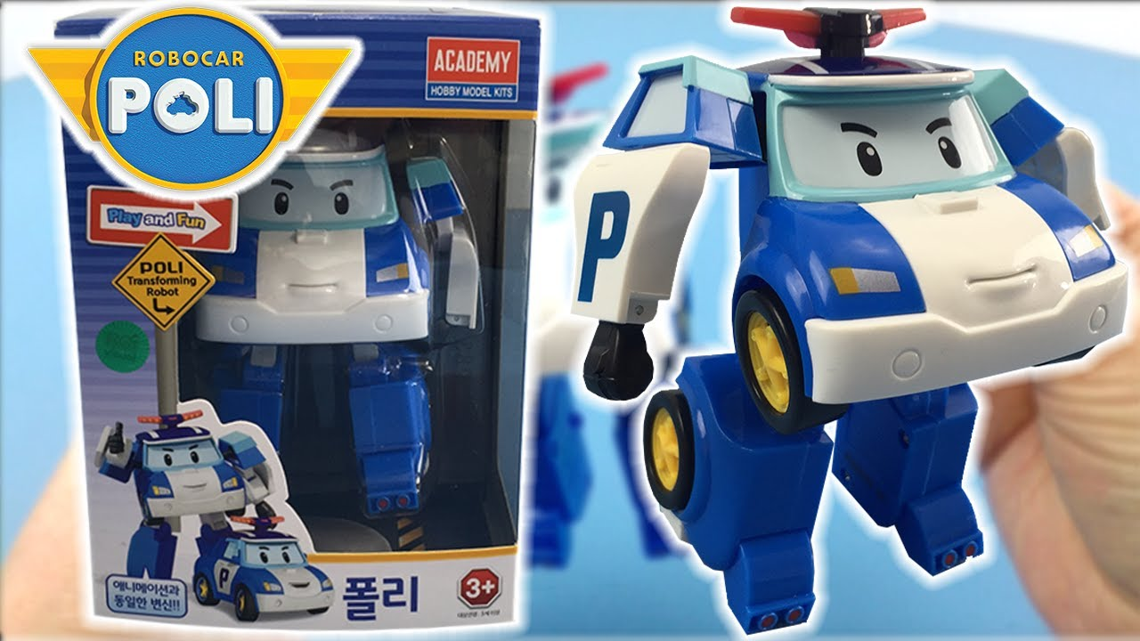 Toy unboxing robocar poli deluxe transformer blue
