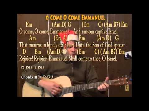 O Come O Come Emmanuel (Christmas) Strum Guitar Cover Lesson with ...
