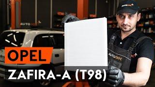 Монтаж на Филтър въздух за вътрешно пространство на OPEL ZAFIRA: видео наръчници