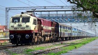 UNIQUE EMD OF INDIAN RAILWAYS ! AGGRESSIVE RUN IN RAIN