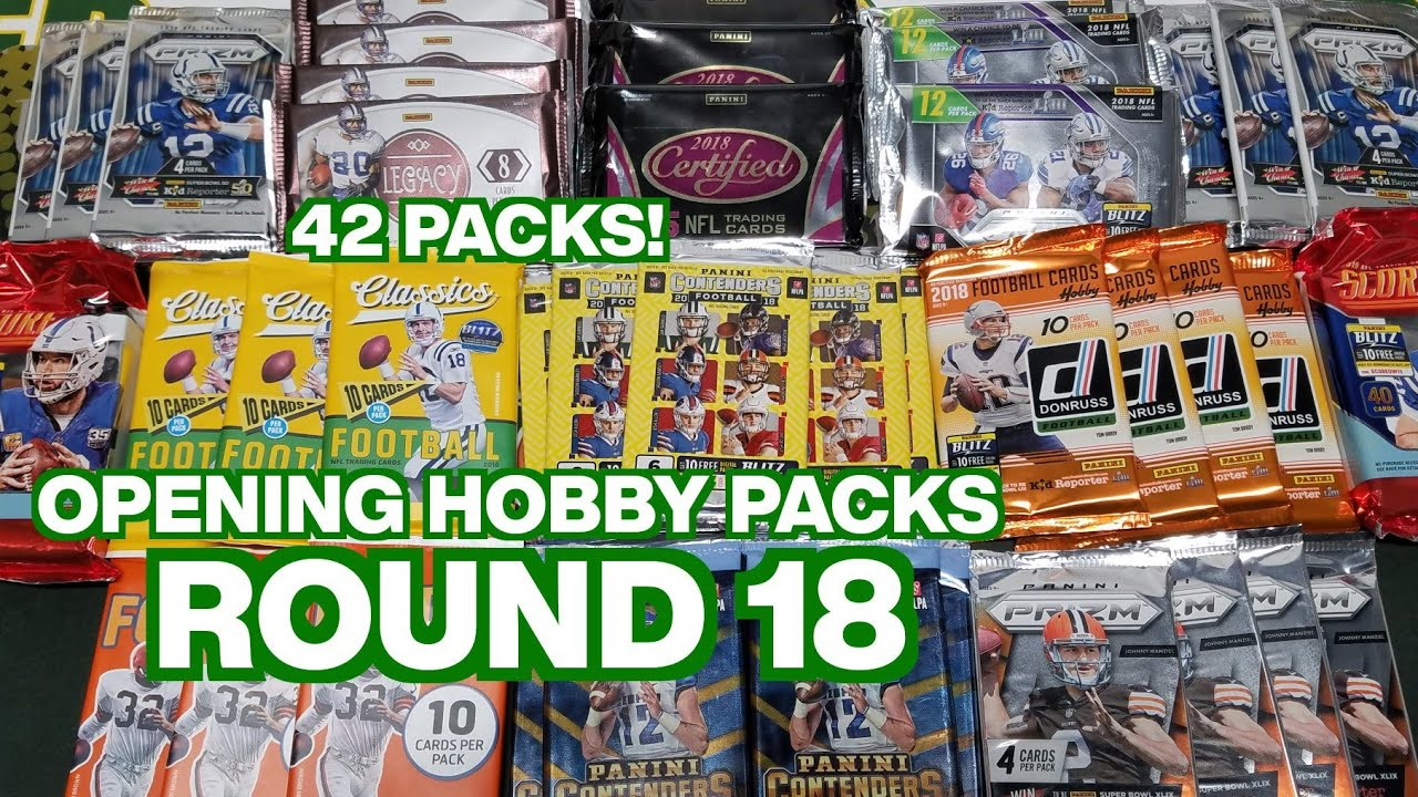 Random Football Card Hobby Pack Opening Round 18 Youtube