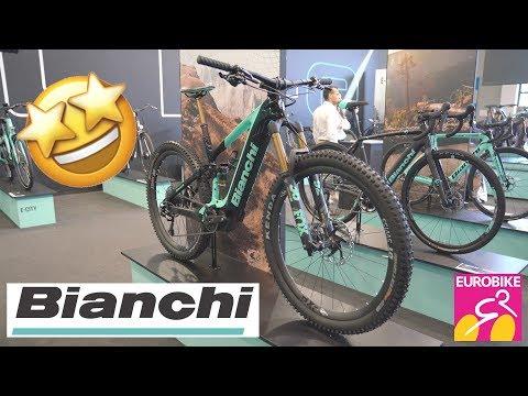 New BIANCHI Bikes 2020 (T-Tronik, E-SUV, Methanol) - Eurobike 2019 [4K]