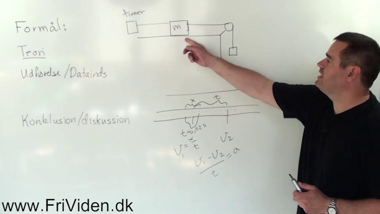 Fysik forsøg: find friktionskvotient med timerstrimmel