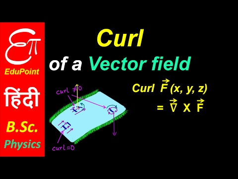 Curl of a vector field - Part 1 | video in HINDI | EduPoint