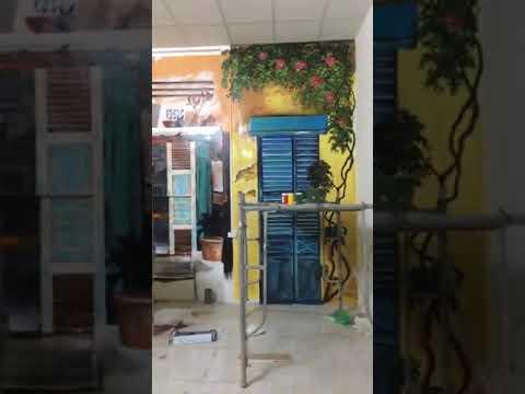 Vẽ tranh tường góc phố cổ Hà Nội cho quán cafe, trà chanh tại Tây Hồ, Hà Nội – Wall painting T–Art H