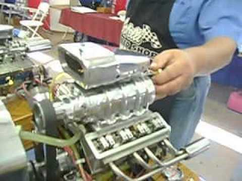 miniature model blown blower v8 engine motor new youtube. Black Bedroom Furniture Sets. Home Design Ideas