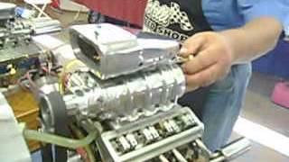 miniature model blown blower V8 engine motor  new