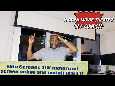 Elite Screens 110' motorized screen (SPECTRUM 2) with Crenova xpe 660 -Perfect HOME THEATER-HW EP313