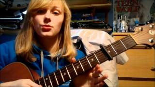 How to play Santa Baby (Taylor Swift version) easy guitar lesson