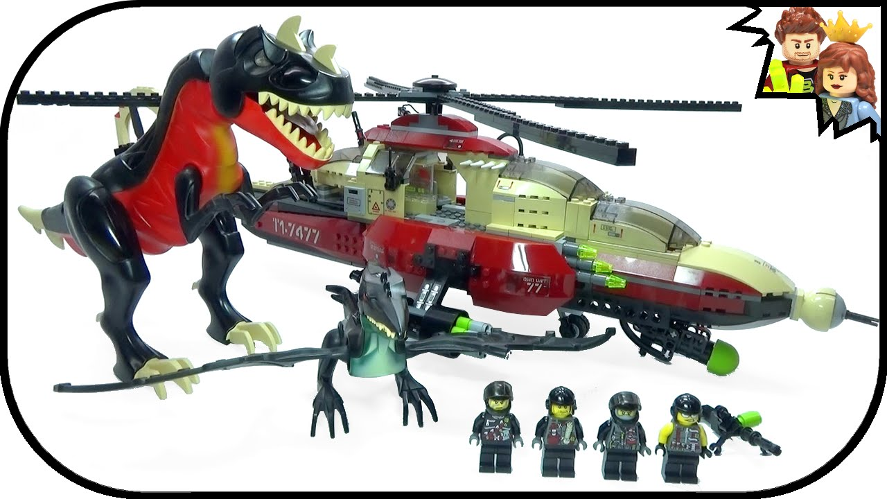 Lego dino attack t 1 typhoon vs t rex 7477 review brickqueen youtube - Dinosaure lego ...