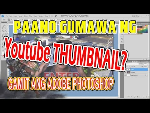 How to make youtube thumbnail, Adobe photoshop tutorial, paano gumawa ng thumbnail thumbnail