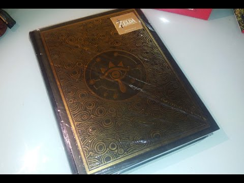 The Legend of Zelda Breath of the Wild DELUXE EDITION GUIDE BOOK UNBOXING