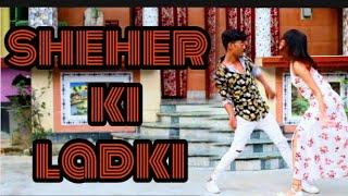 Gambar cover Sheher Ki Ladki Song - Dance Cover Biswajit Mondal Moumita Biswas