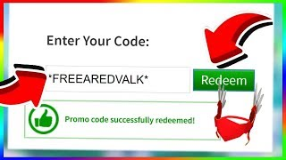 ROBLOX's ALL THE PROMOCODES THAT GIVE AWAY FREE GOODS! / Roblox Free Goods
