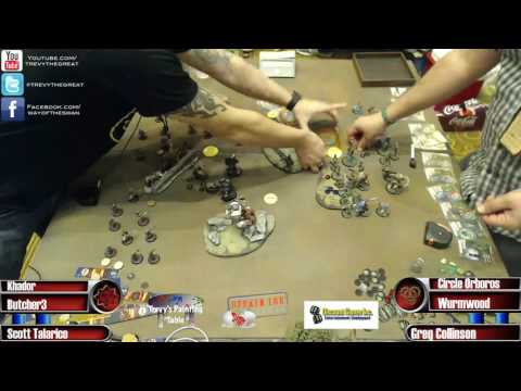 CaptainCon 2017 Masters Round 2 - Scott Talarico (Khador) vs. Greg Collinson (Circle)