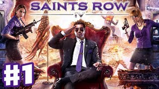 Saints Row IV - Gameplay Walkthrough Part 1 - War for Humanity! (PC, Xbox 360, PS3)
