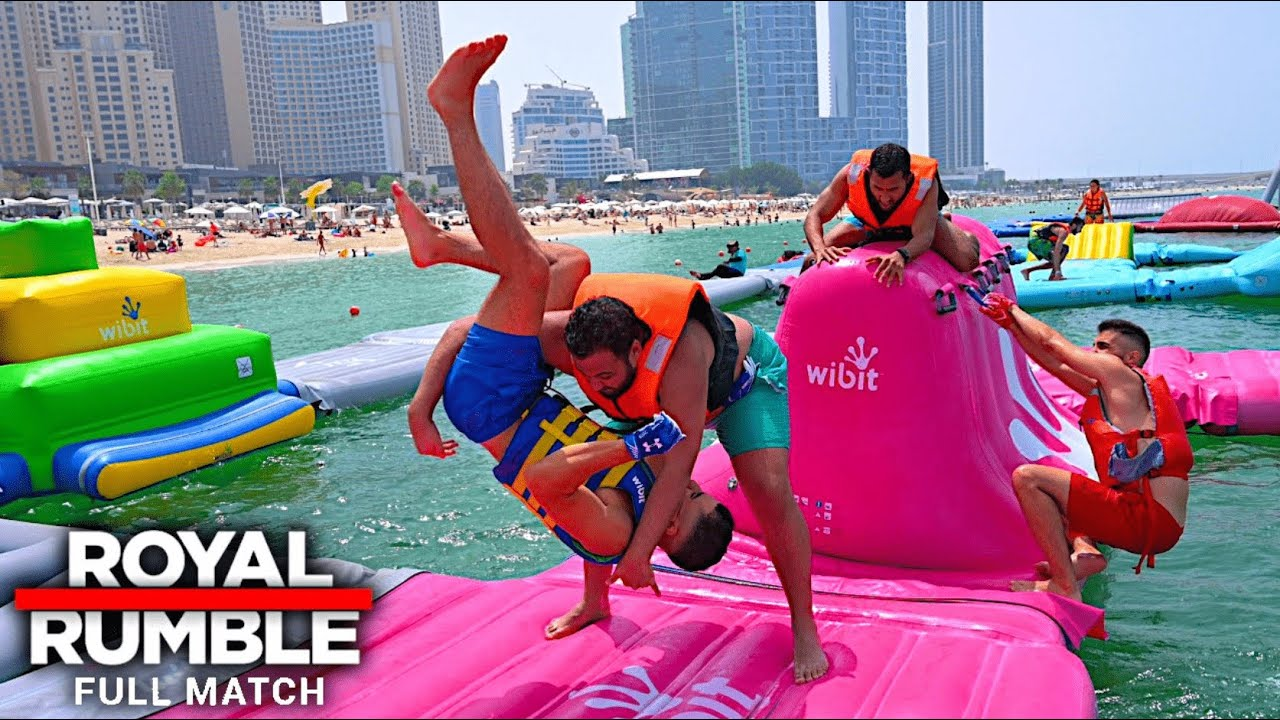WWE ROYAL RUMBLE AT THE INFLATABLE WATER PARK