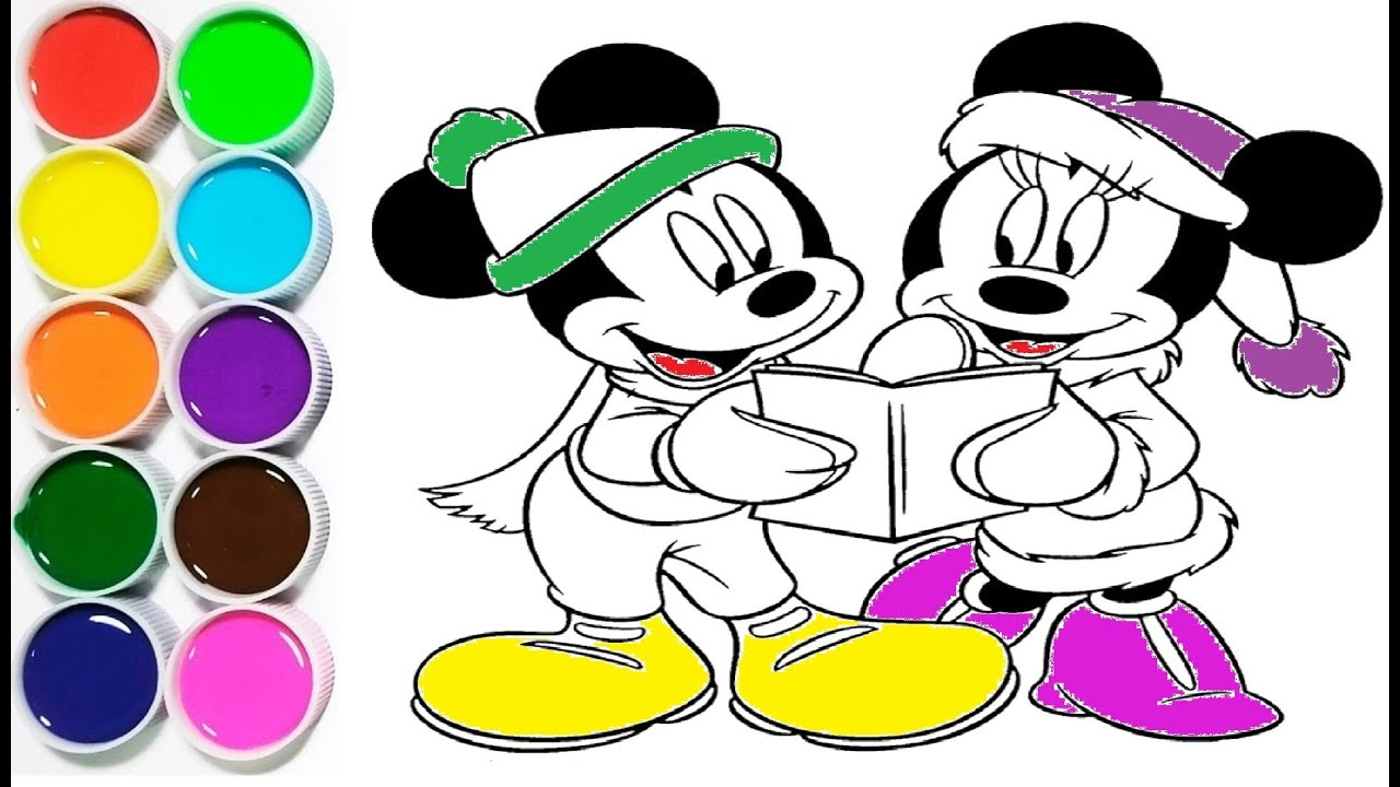 Coloriage Mickey Et Minnie Mouse Youtube