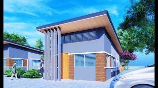 House Design Plan 4x10m W/ 1 Bedroom Full Plans