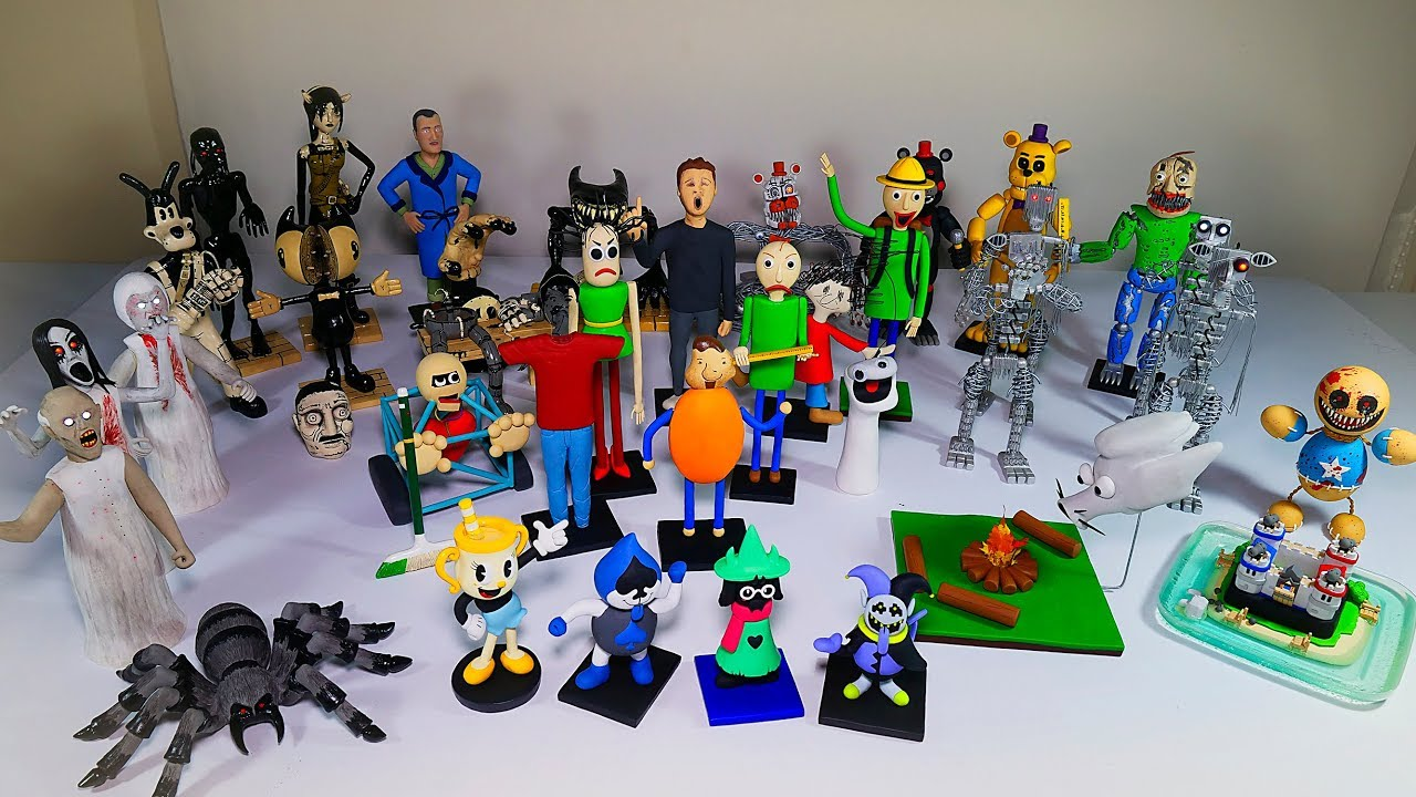 CLAY REVIEW 👏👏 2018 FIGURE COLLECTION ★ BALDI FNAF TJOC:R ...