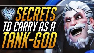 How to SOLO CARRY as a TANK - Pro Reinhardt Tips and Tricks to RANK UP | Overwatch Guide