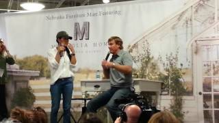 Chip & Joanna Gaines of Fixer Upper at Nebraska Furniture Mart August 30,2016.