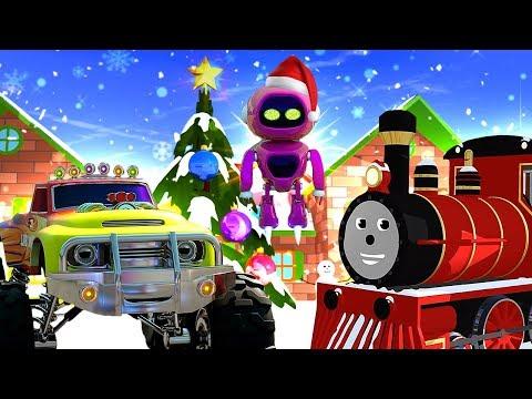 Мультики для детей про Новый год, машинки и паровозики! Зимние приключения и яркие мультфильмы