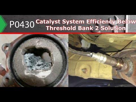 P0430 – Catalyst System Efficiency Below Threshold Bank 2 Solution