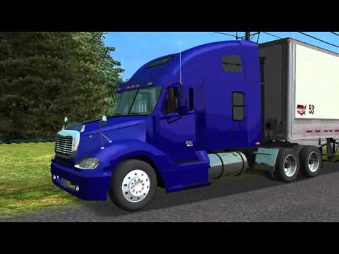 freightliner columbia  towne air freight by Caminhoneiro no haulin a Brazilian production