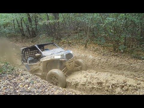Polaris RZR 1000 turbo in the mud