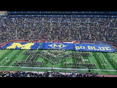 University of Michigan Marching Band Halftime Show