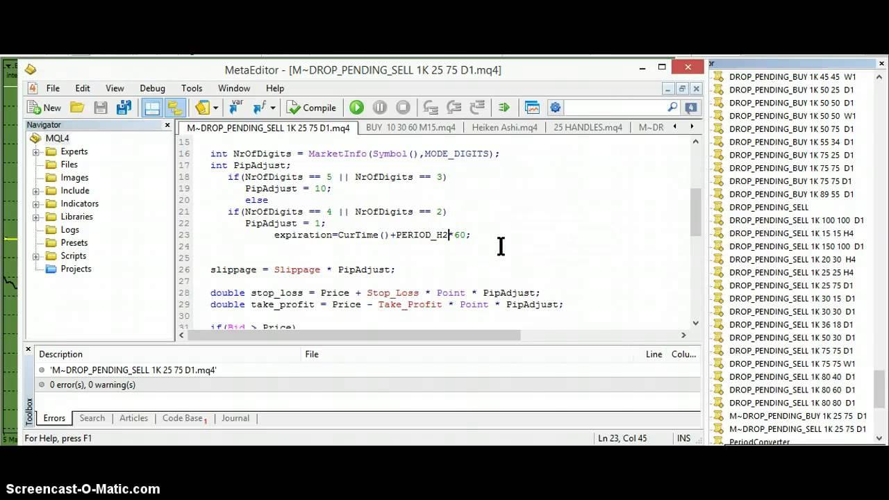 Mt4 Pending Order Script Risk 25 Pips Youtube