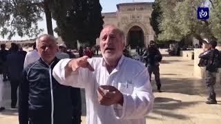 مواجهات بين المرابطين وقوات الاحتلال خلال اقتحام مستوطنين للأقصى  (2-6-2019)