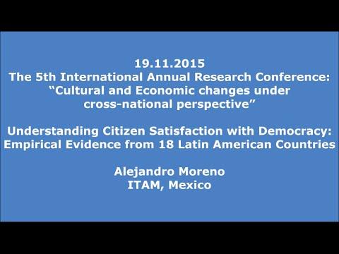 19.11.2015: Alejandro Moreno: Citizen Satisfaction with Democracy: 18 Latin American Countries