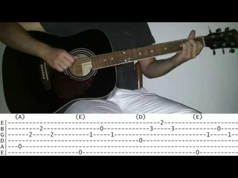 Lucio battisti - La canzone del sole (tutorial per chitarra)