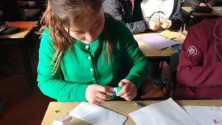 Урок технологии 7 класс сш. им. Отунчу Ногойбаева оригами цветок.