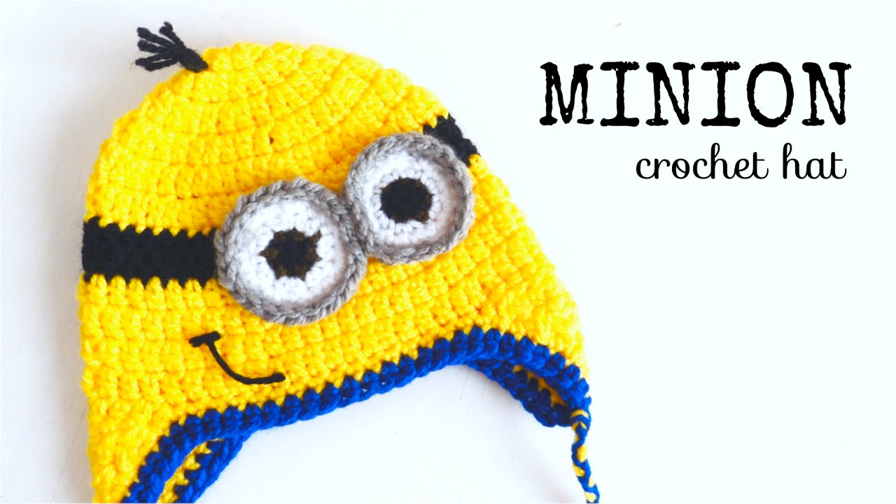 777b9c7f5e2 How to crochet MINION HAT (all sizes) ♥ CROCHET LOVERS - YouTube