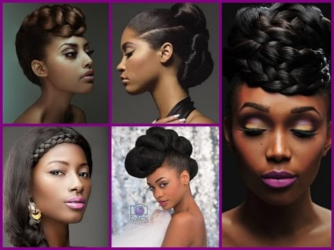 Top 20 trendy updo hairstyles for black women youtube urmus Choice Image