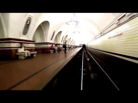 Смотреть Мос Метро глазами машиниста, Вид из кабины машиниста в метро онлайн