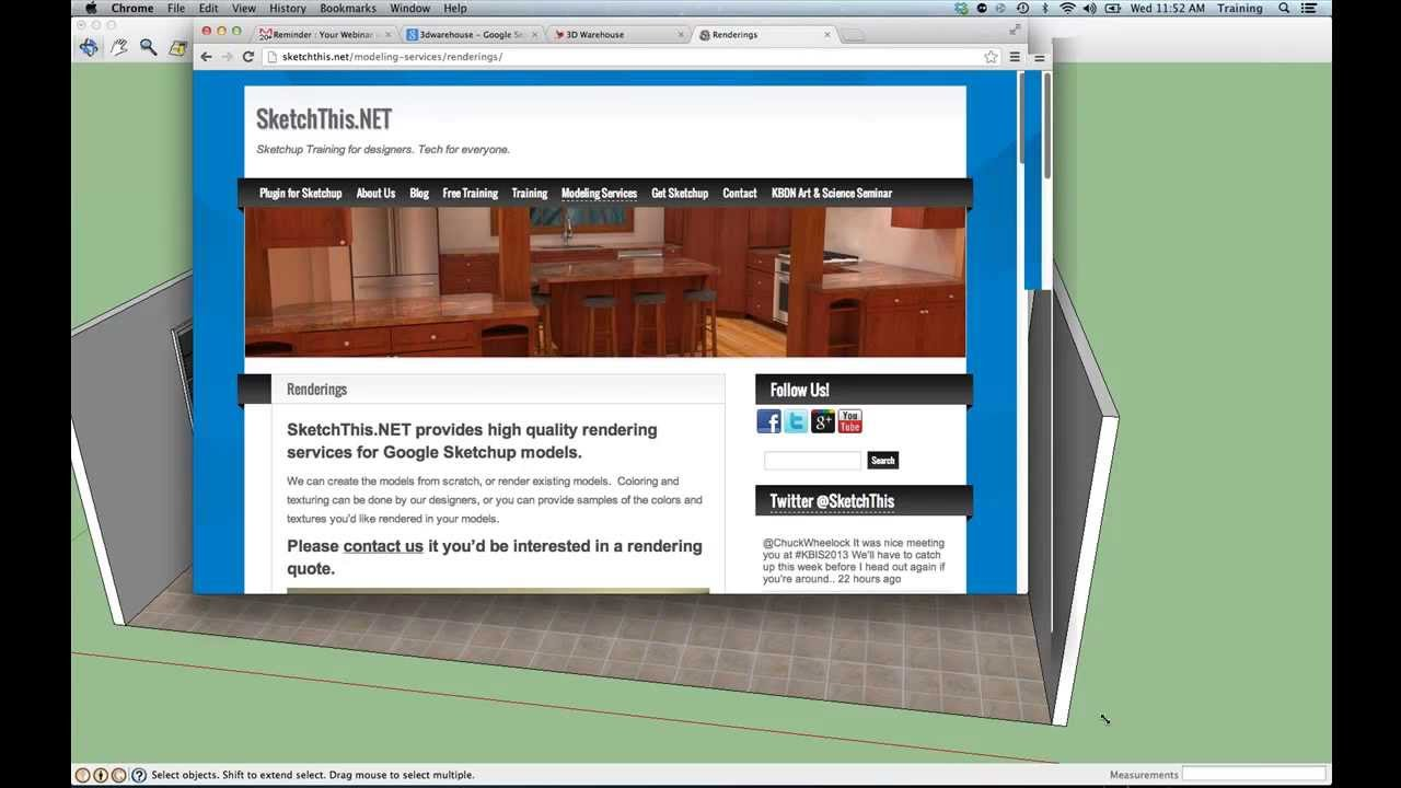 designing a kitchen in sketchup from sketchthis - youtube