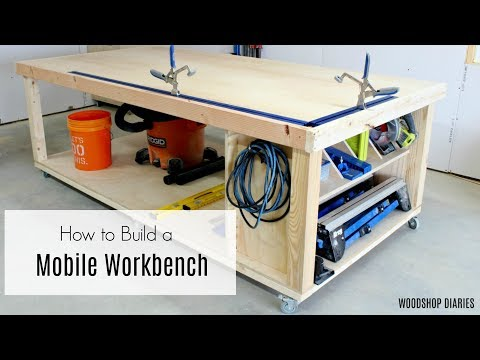 How to Build a Mobile Workbench--Ultimate Assembly and Outfeed Table
