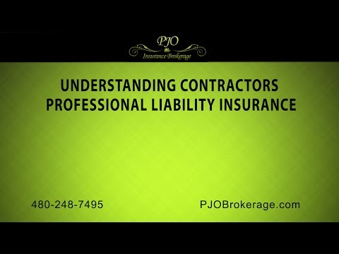 Understanding Contractors Professional Liability Insurance | PJO Insurance Brokerage