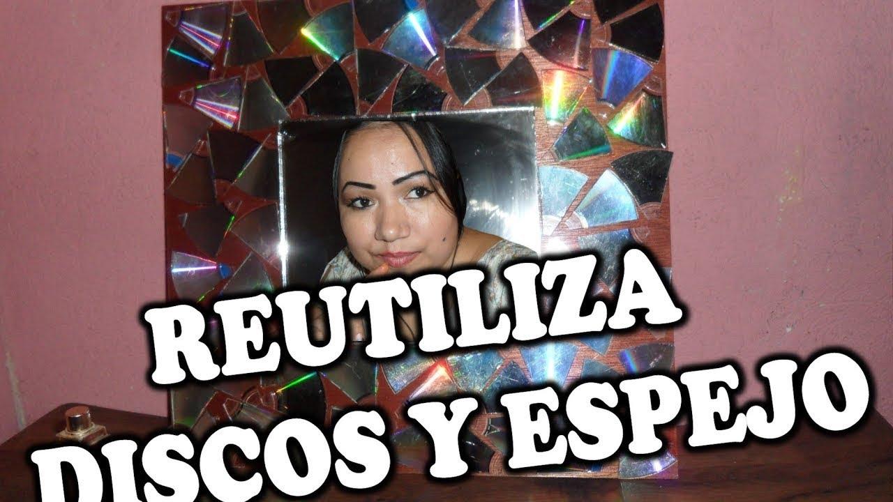 Como decorar un espejo con discos elizabeth m c youtube - Como decorar un espejo ...